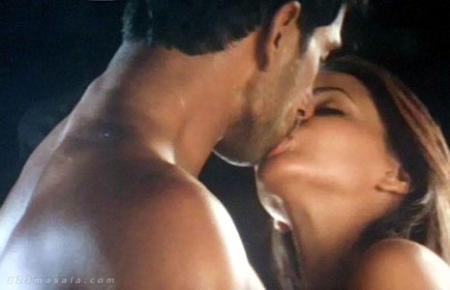 Neha Dhupia Hot Kiss